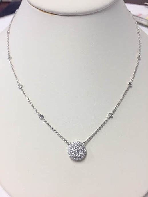 Necklaces pendants diamonds diamond jewelry 300000 125 total ct weight diamond necklace pendant is f g color vs clarity set in 18kt white gold 18kt diamonds by the yard chain aloadofball Gallery